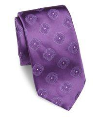 Ike Behar   Purple Floral Pattern Silk Tie for Men   Lyst