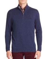 Lacoste | Blue Quarter-zip Jersey Sweater for Men | Lyst