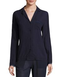 Skin   Blue Woven Cotton Gauze Sleep Shirt   Lyst
