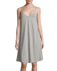Skin | Gray Heathered Cotton Chemise | Lyst