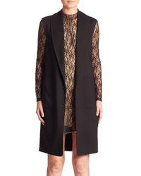Alexander Wang | Black Wool Shawl-collar Vest | Lyst