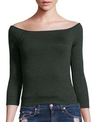 Rag & Bone | Green Donna Off-the-shoulder Top | Lyst