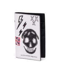 Alexander McQueen - Black Skull Leather Bifold Pocket Organizer - Lyst