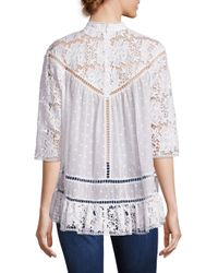 Zimmermann - White Caravan Crochet Lace Top - Lyst
