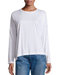 Vince | White Relaxed Long-sleeve Crew | Lyst