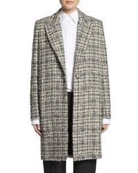 Lanvin | Multicolor Tweed Coat | Lyst