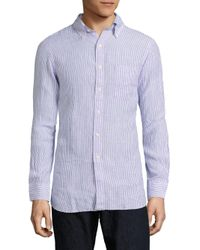 Polo Ralph Lauren | Purple Striped Cotton Shirt for Men | Lyst