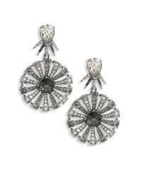 Oscar de la Renta | Metallic Celestial Star Crystal Drop Clip-on Earrings | Lyst