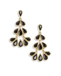 Oscar de la Renta | Metallic Teardrop Crystal Chandelier Earrings | Lyst