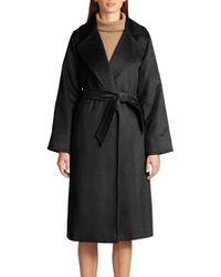 Max Mara | Black Manuela Camel Hair Wrap Coat | Lyst