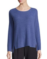 Eileen Fisher | Multicolor Merino Wool Rib-knit Sweater | Lyst