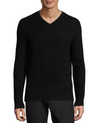 Theory | Black V-neck Sweater for Men | Lyst