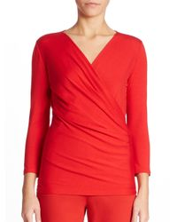 Max Mara | Red Caprice Solid Top | Lyst