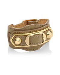 Balenciaga   Multicolor Carry Over Goldtone Leather Bracelet   Lyst