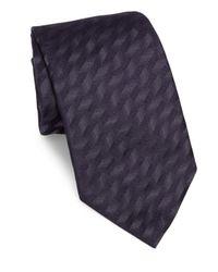 Armani   Blue Brushed Metallic Silk Tie for Men   Lyst