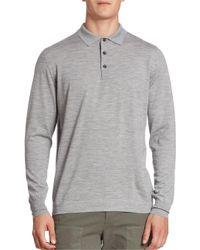 Brunello Cucinelli | Gray Fine Gauge Cashmere Blend Polo Sweater for Men | Lyst