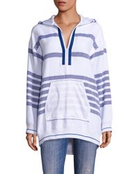Koza | Blue Baja Herringbone Striped Hoodie | Lyst