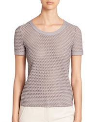 Armani   Gray Wave Jersey Top   Lyst