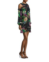 Nicholas | Multicolor Dahlia Print Cold Shoulder Dress | Lyst