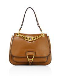Miu Miu | Brown Large Dahlia Madras Leather Saddle Bag | Lyst