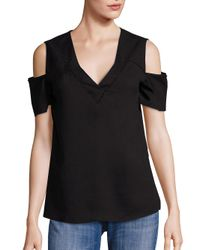 Cooper & Ella | Black Sonia Cold Shoulder Top | Lyst