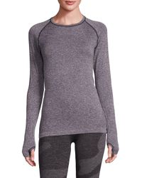 HPE   Gray Holiday Seamless Long Sleeve Tee   Lyst