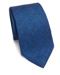 Isaia | Blue Tonal Silk Tie for Men | Lyst