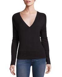 Rag & Bone | Black Solid V-neck Sweater | Lyst