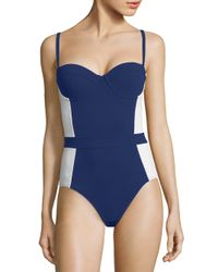 Tory Burch | Blue Lipsi One-piece Swimsuit | Lyst