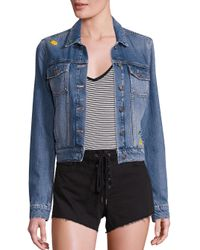 PAIGE - Blue Wylder Aloha Pineapple Embroidered Denim Jacket - Lyst