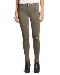 Hudson Jeans | Green Nico Camo Skinny Jeans | Lyst