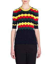 Marni | Multicolor Striped Cotton-blend Sweater | Lyst