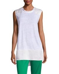 Rag & Bone | White Riley Linen & Silk Top | Lyst