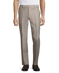 Corneliani | Natural Wool & Linen Pants for Men | Lyst