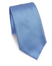 Armani | Blue Textured Chevron Silk Tie for Men | Lyst