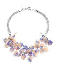 Lele Sadoughi | Blue Crystal Lily Necklace | Lyst