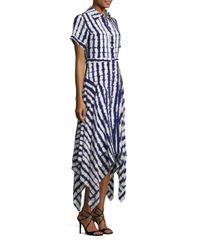 Prabal Gurung | Blue Short Sleeve Handkerchief Dress | Lyst