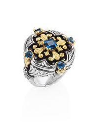Konstantino | Multicolor Nemesis London Blue Topaz Ring | Lyst