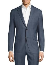 Theory   Blue Malcolm Camley Slim-fit Wool Jacket for Men   Lyst