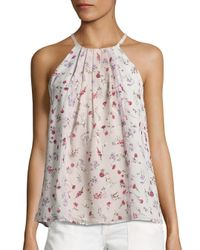 Joie   Multicolor Hawn Floral Silk Blouse   Lyst