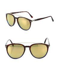 Persol   Blue Striped 55mm Pilot Sunglasses for Men   Lyst