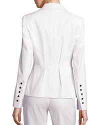 ESCADA White Balersa Cotton Blazer