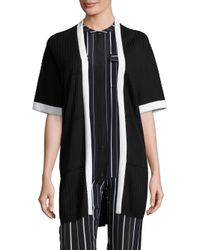 St. John - Black Sport Collection Open Front Cardigan - Lyst