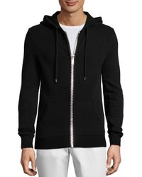 Michael Kors Black Ribbed Cashmere Hoodie for men