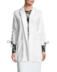 Max Mara | White Deruta Lace-up Jacket | Lyst