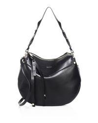 Jimmy Choo | Black Artie Leather Shoulder Bag | Lyst