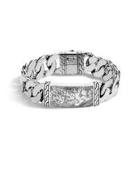 John Hardy   Gray Classic Silver Id Bracelet   Lyst