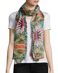 Bindya | Multicolor Abstract Animal-print Scarf | Lyst