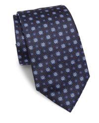 Armani | Blue Medallion Silk Tie for Men | Lyst