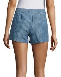 Joie - Blue Merci Striped Linen & Cotton Shorts - Lyst